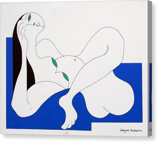 Position Women  Canvas Print by Hildegarde Handsaeme