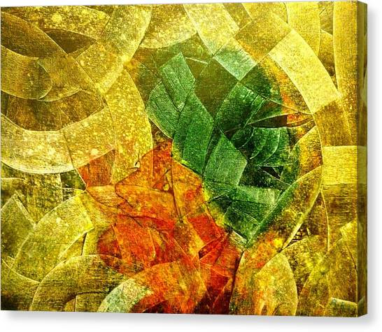 Canvas Print featuring the painting Positive Abstract by Ray Khalife