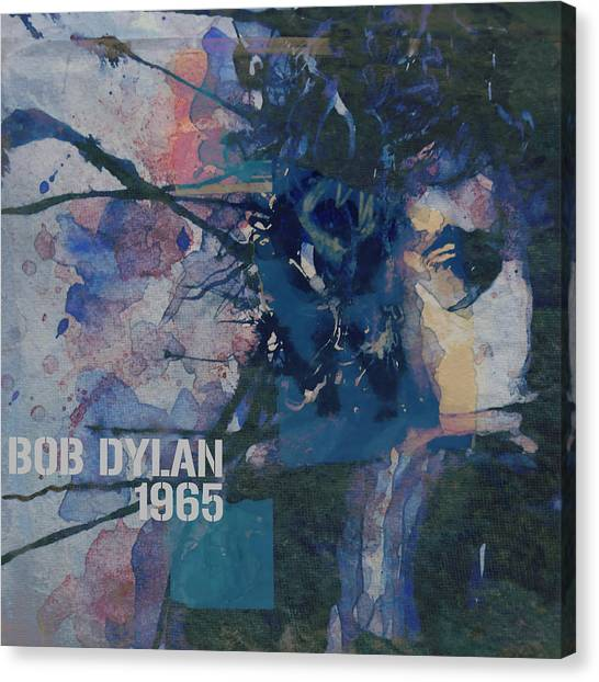 Bob Dylan Canvas Print - Positively 4th Street by Paul Lovering