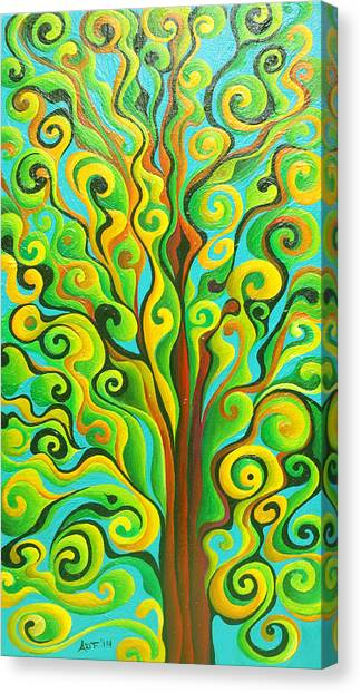 Positronic Spirit Tree Canvas Print