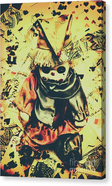 Clown Art Canvas Print - Possessed Vintage Horror Doll  by Jorgo Photography - Wall Art Gallery