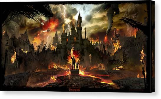 Causes Canvas Print - Post Apocalyptic Disneyland by Alex Ruiz