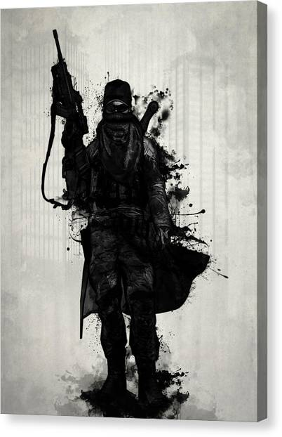 Soldiers Canvas Print - Post Apocalyptic Warrior by Nicklas Gustafsson
