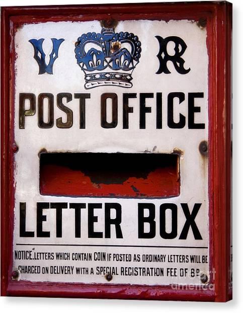 Mail Boxes Canvas Print - Post Box by Jane Rix
