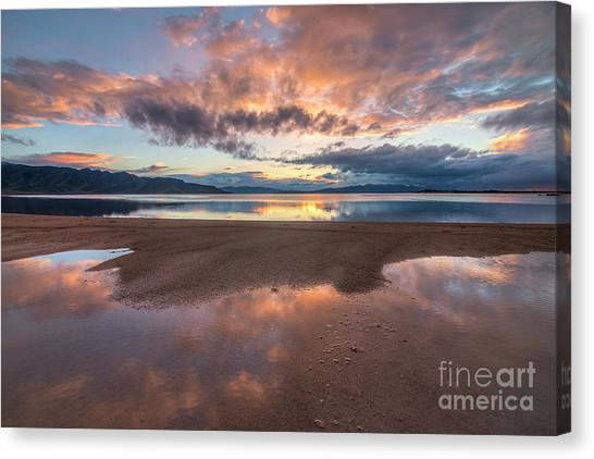 Canvas Print featuring the photograph Post Storm Sunset by Spencer Baugh