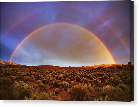 Post Tstorm Rainbow Canvas Print by SB Sullivan