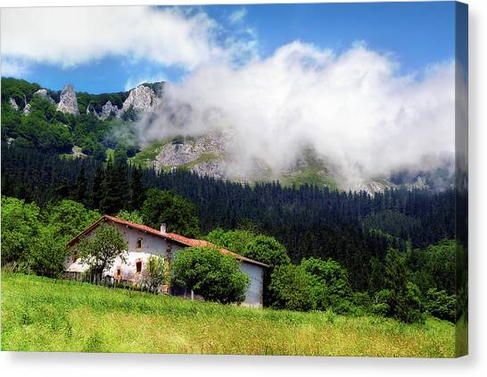 Postcard From Basque Country Canvas Print