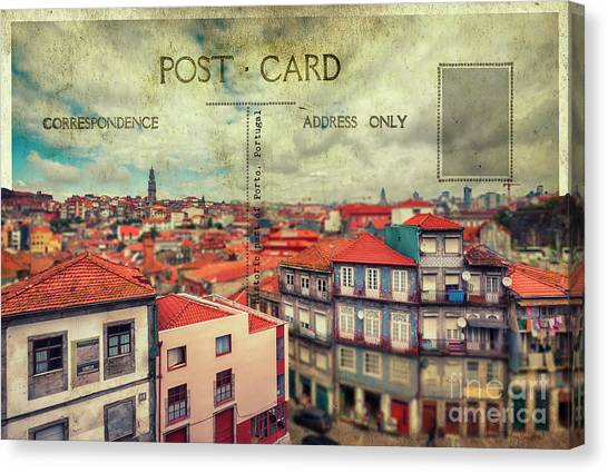 postcard of Porto Canvas Print