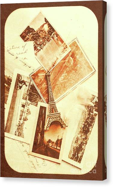 Romanticism Canvas Print - Postcards And Letters From The City Of Love by Jorgo Photography - Wall Art Gallery