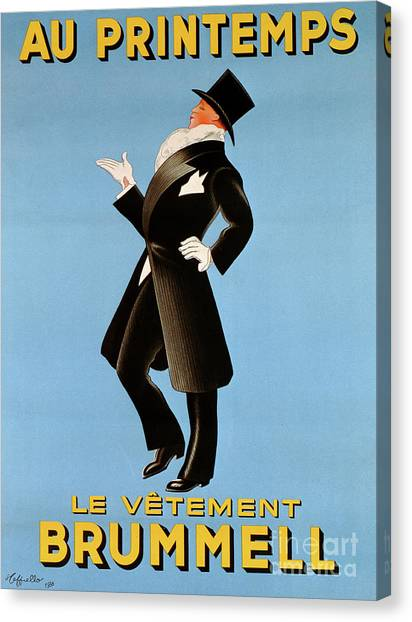 Gent Canvas Print - Poster Advertising 'brummel' Clothing For Men At Printemps Department Store, 1936  by Leonetto Cappiello