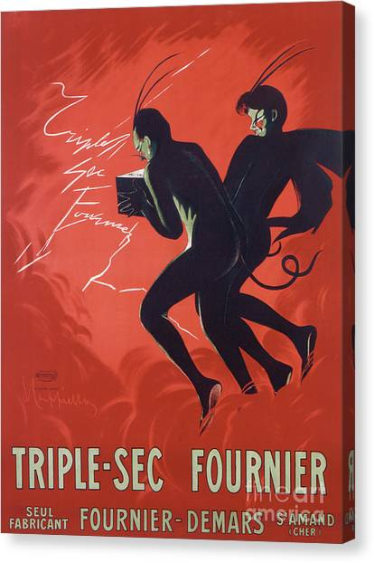 Sec Canvas Print - Poster Advertising Triple-sec Fournier by Leonetto Cappiello