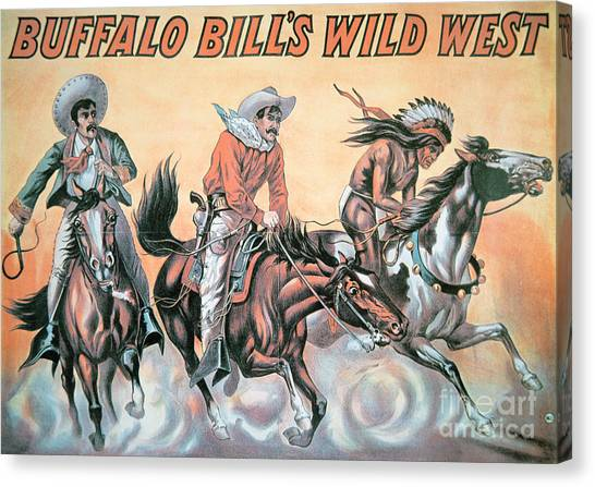 Lassos Canvas Print - Poster For Buffalo Bill's Wild West Show by American School