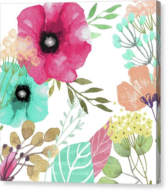 Pattern Canvas Print - Posy by Mindy Sommers