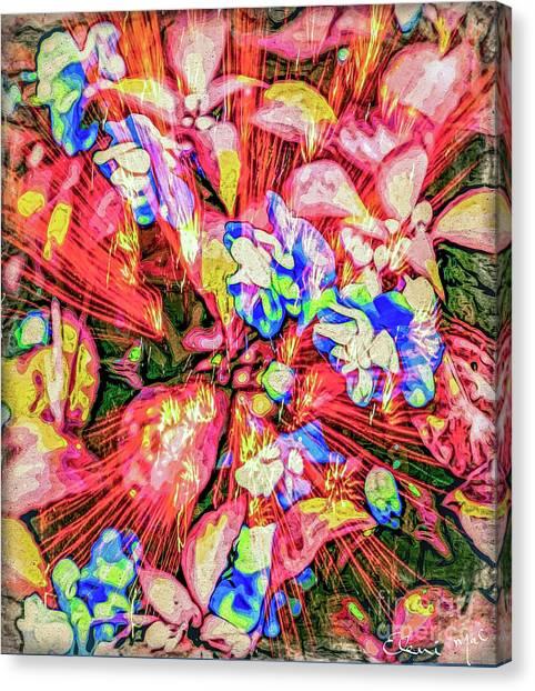 Canvas Print featuring the digital art Pot Pourri by Eleni Mac Synodinos