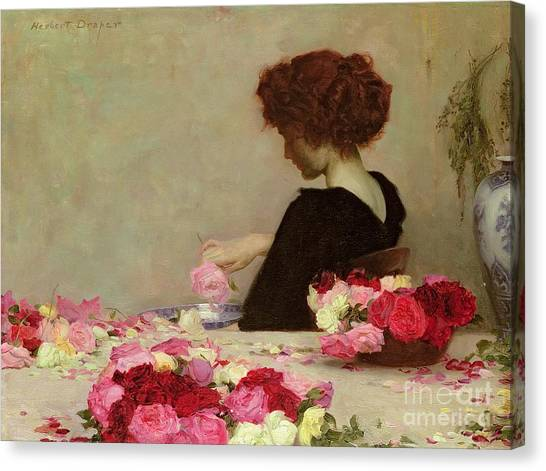 Woman Canvas Print - Pot Pourri by Herbert James Draper