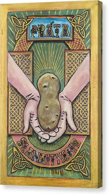Potato Savior  Prata Slanaitheoir Canvas Print by Pegeen  Shean