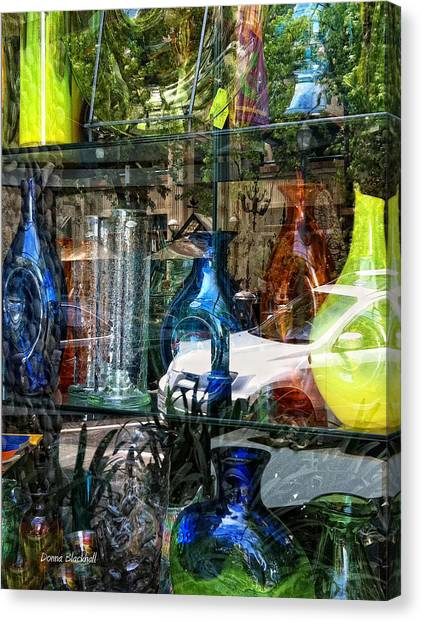 Decorative Glass Canvas Print   Potential Broken Glass By Donna Blackhall