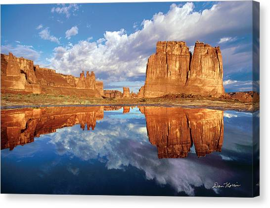 Pothole Reflections Canvas Print