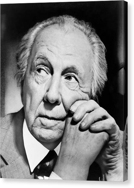 Chin Canvas Print - Potrait Of Frank Lloyd Wright by Underwood Archives