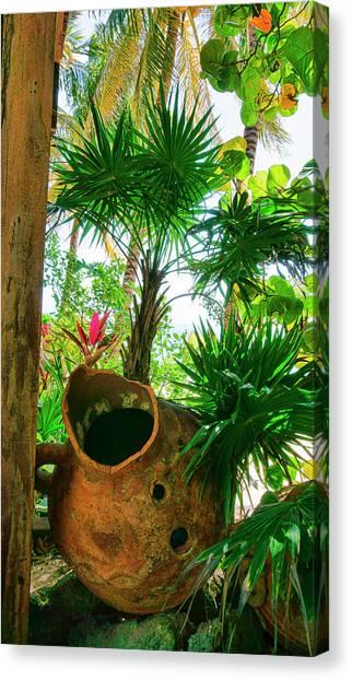 Pottery Ambergris Caye Belize Canvas Print