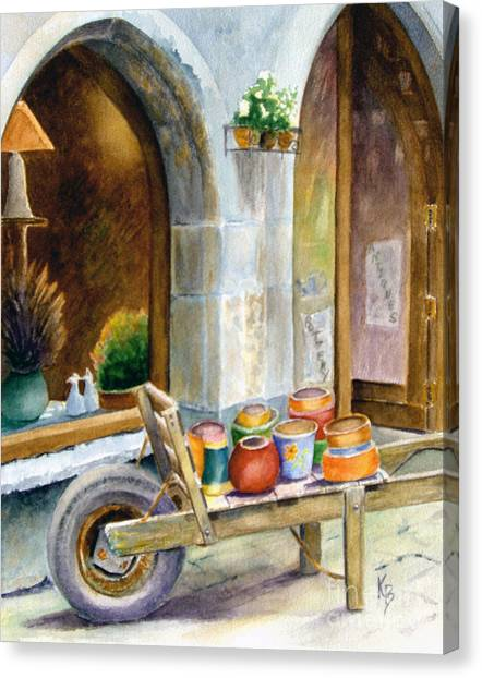 Pottery Cart Canvas Print