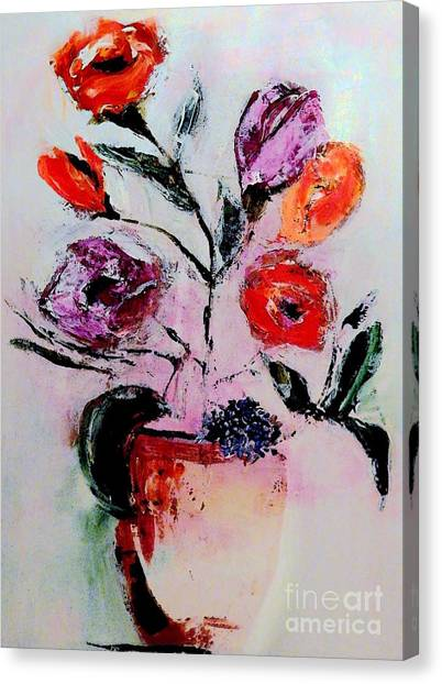 Pottery Plants Canvas Print