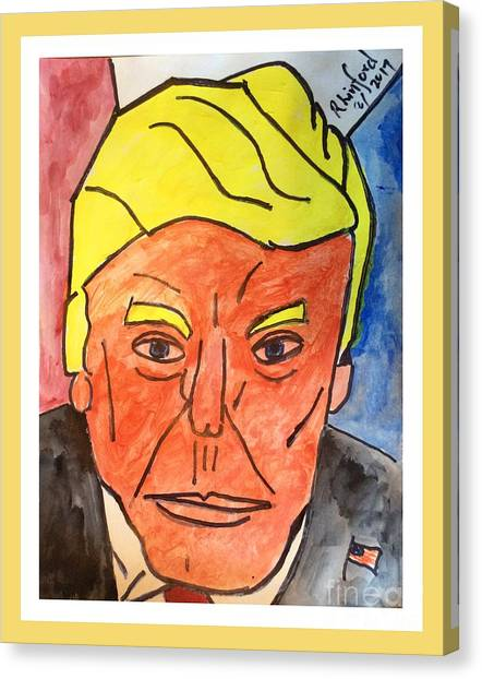 Obamacare Canvas Print - Potus Trump Sorry Negatives Give You A Hard Time Courage And On To Your Positive Victories by Richard W Linford
