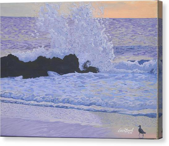 Pounding Surf Canvas Print by Eric Barich
