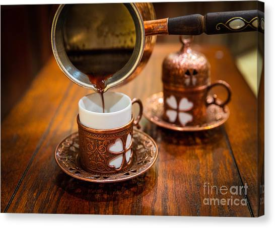 Islam Canvas Print - Poured Turkish Coffee by Inge Johnsson