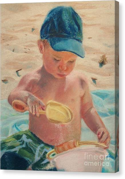 Pouring Sand Canvas Print by Lisa Pope