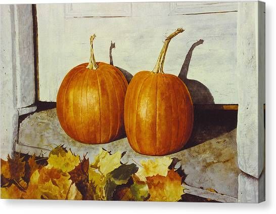 Povec's Pumpkins Canvas Print