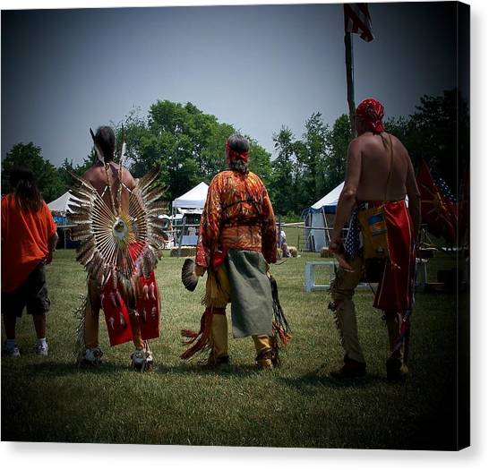 Pow Wow Canvas Print by Vijay Sharon Govender