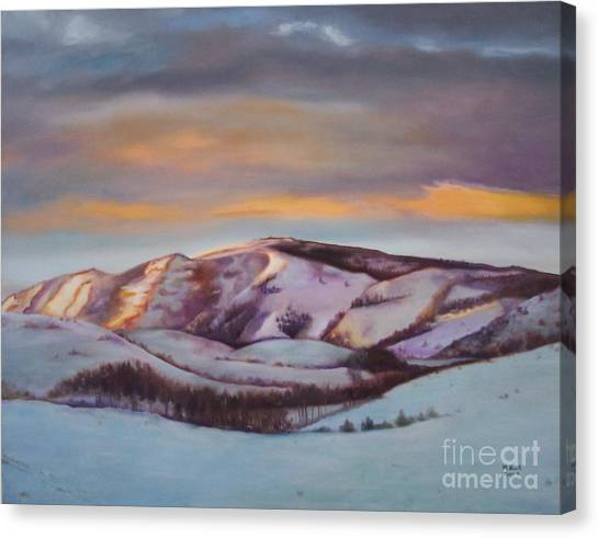 Powder Mountain Canvas Print