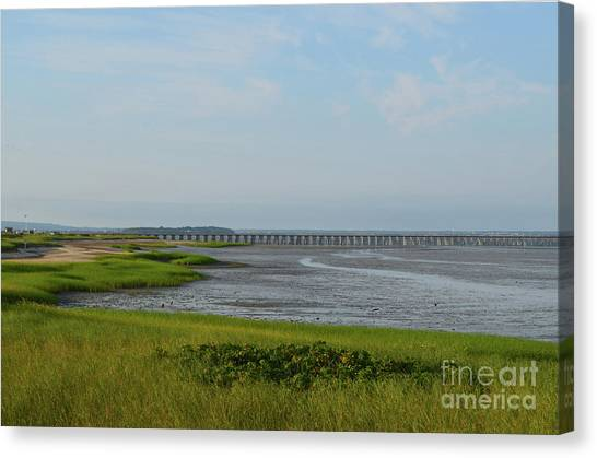 Powder Point Bridge In Duxbury  Canvas Print