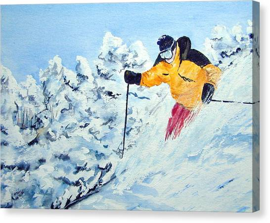 Powder Run Canvas Print
