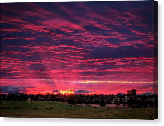 Powell Butte Oregon Sunset Canvas Print