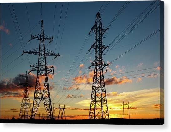 Power Cables Canvas Print