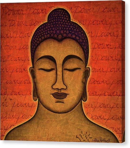 Buddha Canvas Print - Power by Gloria Rothrock