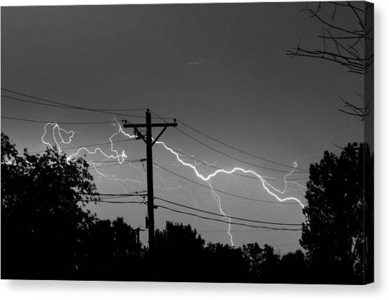 Power Lines Bw Fine Art Photo Print Canvas Print