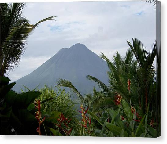 Arenal Volcano Canvas Print - Power Of Beauty by Karen Wiles