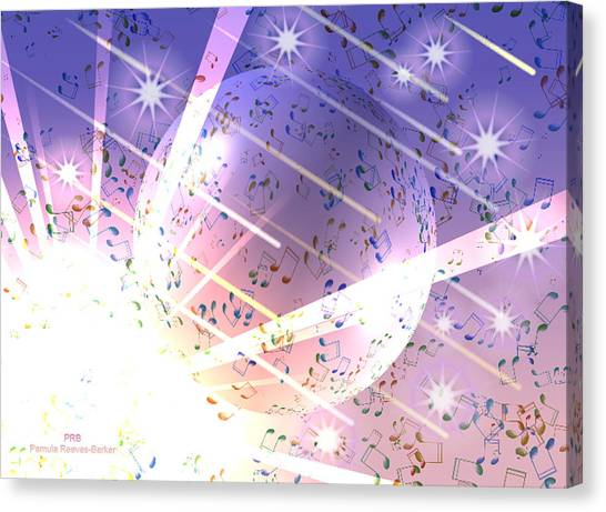 Canvas Print - Power Of Music by Pamula Reeves-Barker