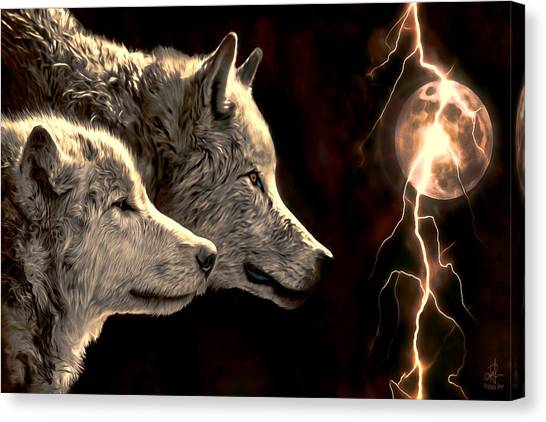 Power Of The Moon Canvas Print