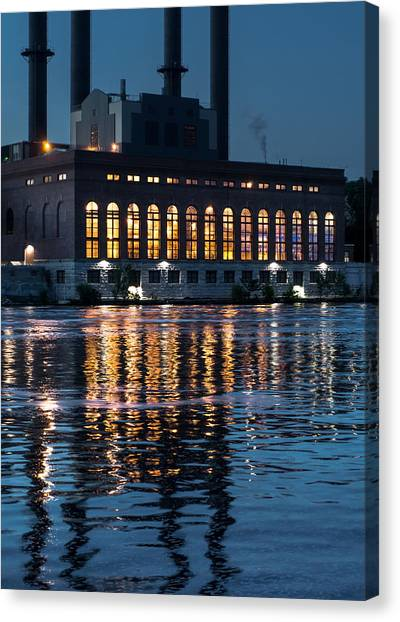 University Of Minnesota Canvas Print - Power Plant On The Mississippi by Jim Hughes