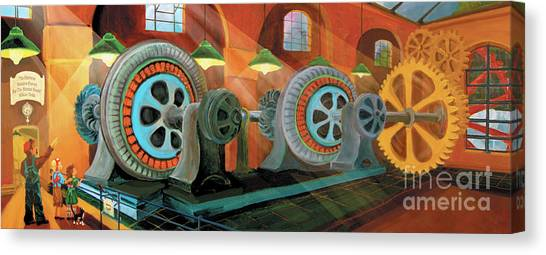 Power Plant Turbines Canvas Print