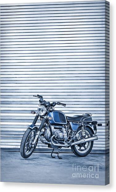 Motorcycle Canvas Print - Power Ride by Evelina Kremsdorf