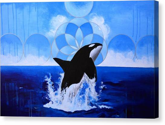 Orcas Canvas Print - Powerful Ally by Alec Falle Hamilton