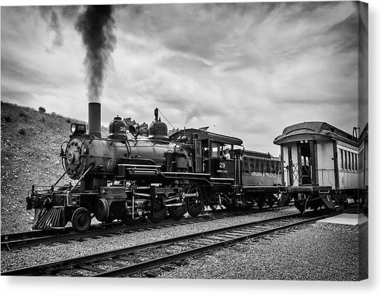Steam Trains Canvas Print - Powerful Steam Train by Garry Gay