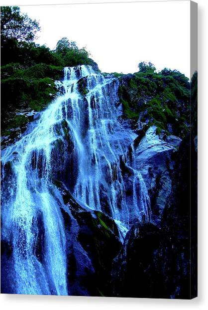 Powers Court Waterfall Version 2 Canvas Print
