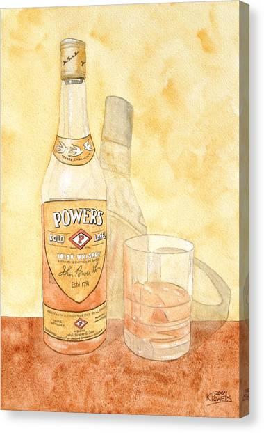 Whiskey Canvas Print - Powers Irish Whiskey by Ken Powers