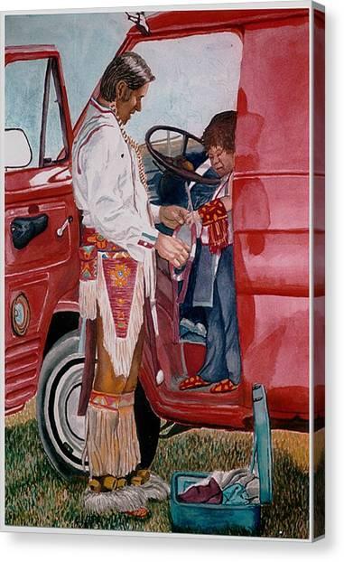 Powwow Family Canvas Print by Sam Vega